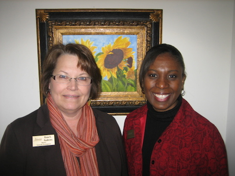 Rosa Andrews and Letitia Rawlinson from Johnston County Community College